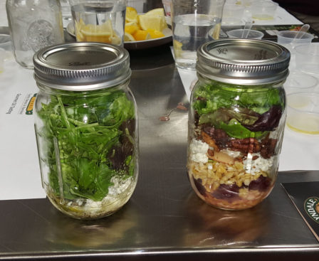 I had to borrow someone else's salad for the photo. I clearly need some help making my Mason jar pretty. What it wasn't in pretty, it was phenomenal in taste! Mmmmm.