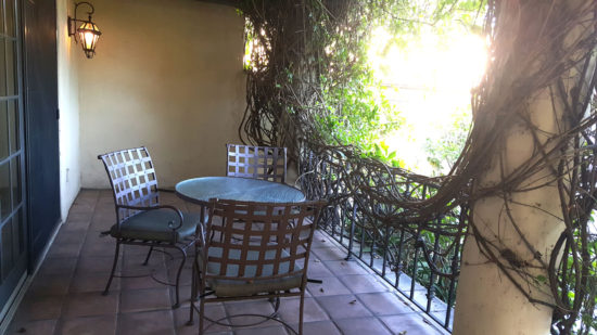 Our own, private patio, where we could enjoy our morning coffee or bring our lunch back to eat on the patio.