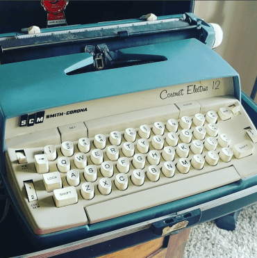 vintage typewriter by smith-corona electric 12