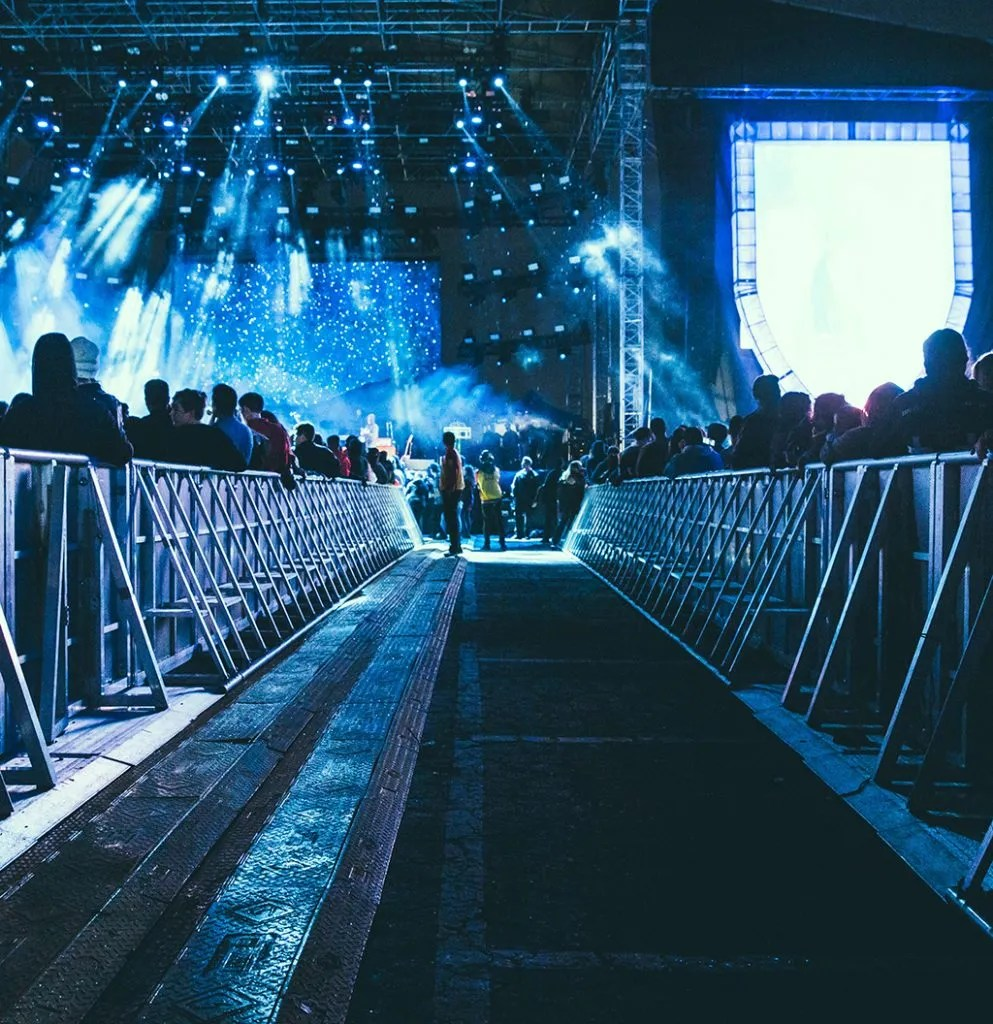 Front of Stage 2, 2, 2, Sound Check Service - Laura Pearman Creative
