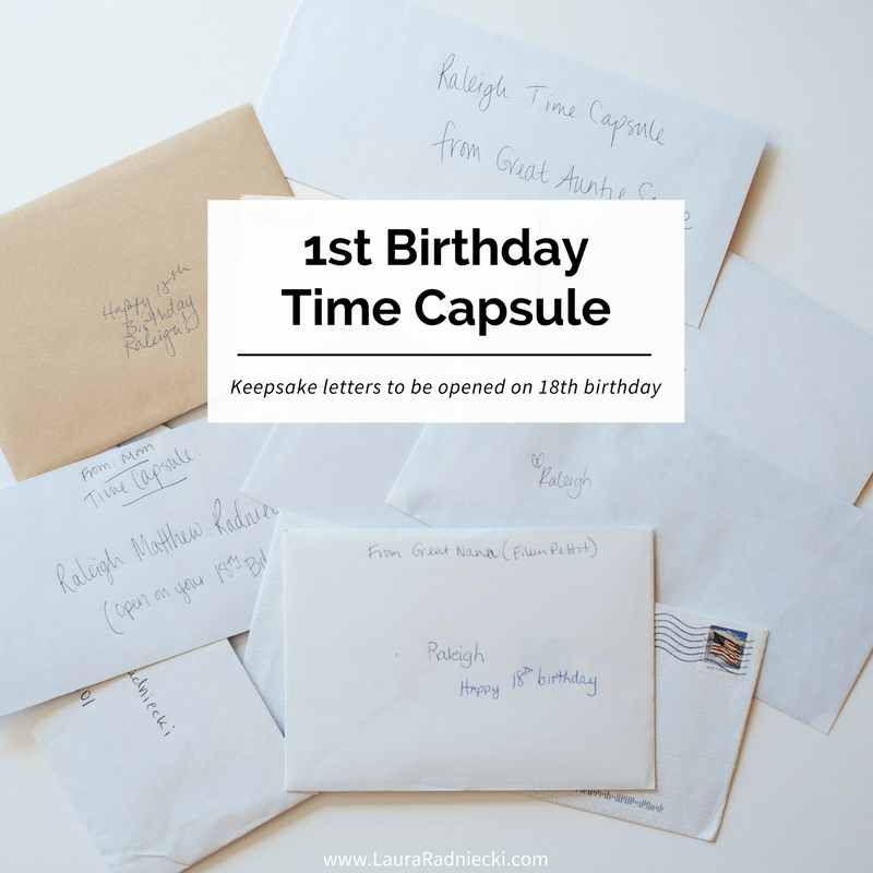 A Time Capsule For Raleigh S First Birthday Baby Time Capsule