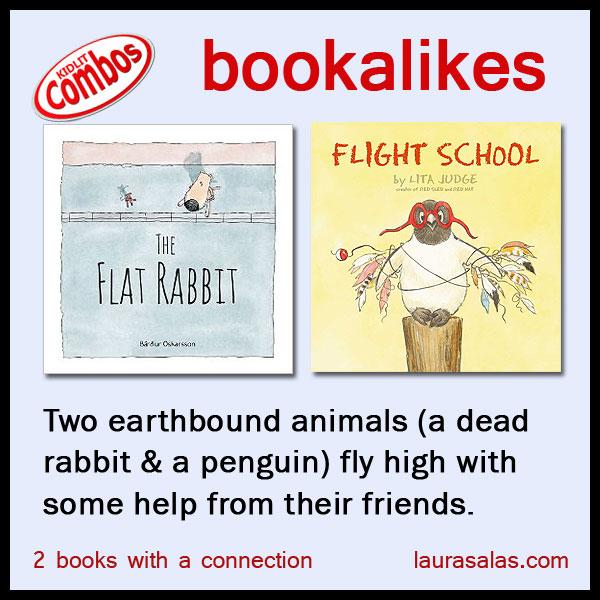 bookalikes - The Flat Rabbit and Flight School