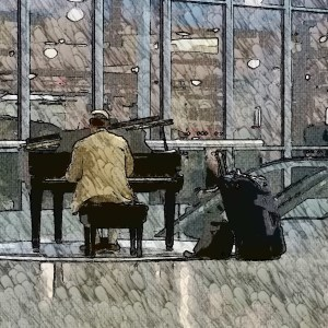 Airport Piano Man [15 Words or Less Poems]