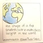the shape of a hug