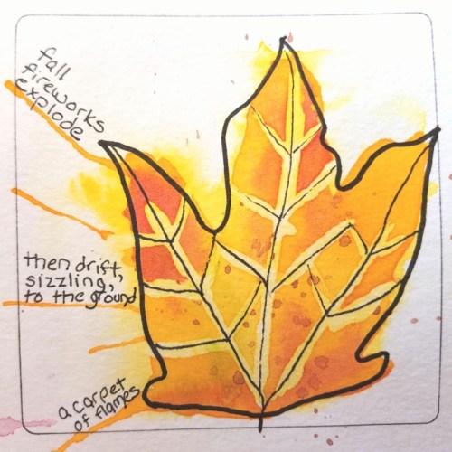 Autumn leaves #poemsketch by Laura Purdie Salas