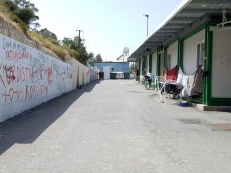 Asylum seekers live in half-containers