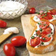 Fresh Tomato Bruschetta with Whipped Feta