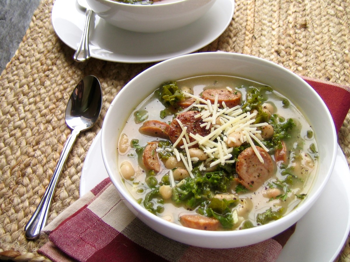 Easy White Bean, Kale, and Sausage Soup