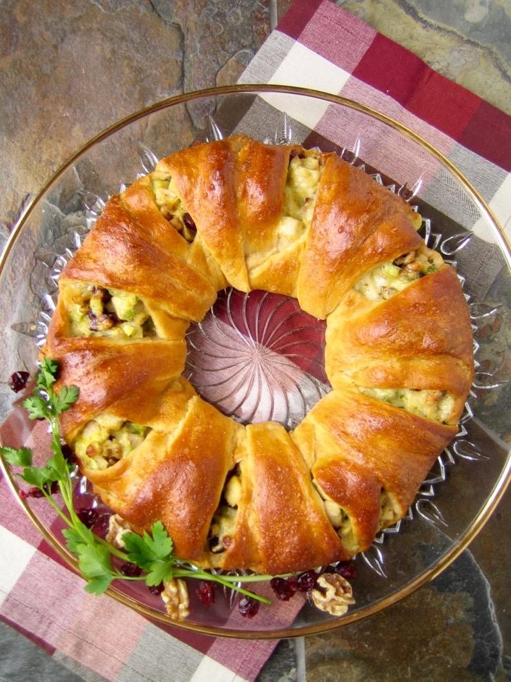 Turkey Cranberry Wreath Recipe