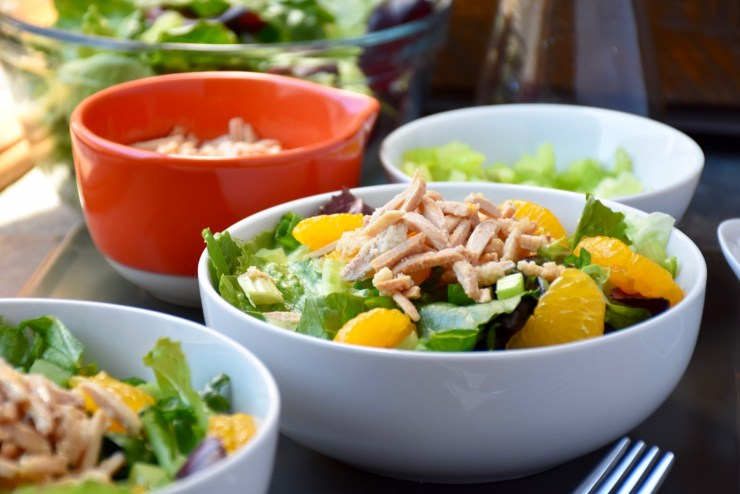 Mandarin Lettuce Salad with Sugared Almonds