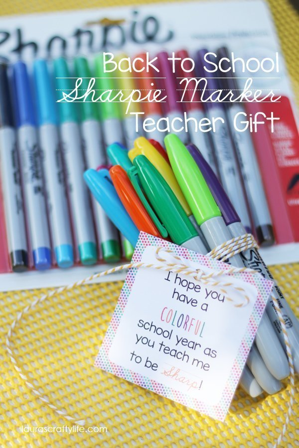 Back To School Sharpie Marker Teacher Gift Lauras