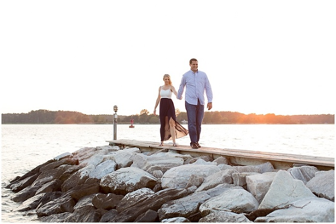 Rachel Amp Eric Engagement Tred Avon Yacht Club Wedding