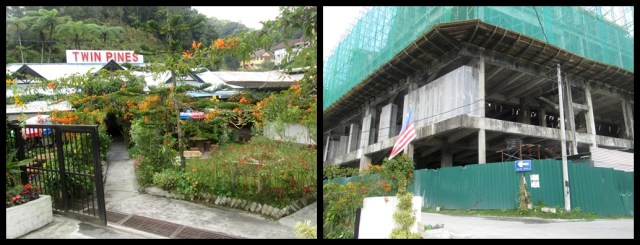 Left: our guesthouse. Right: the neighbours