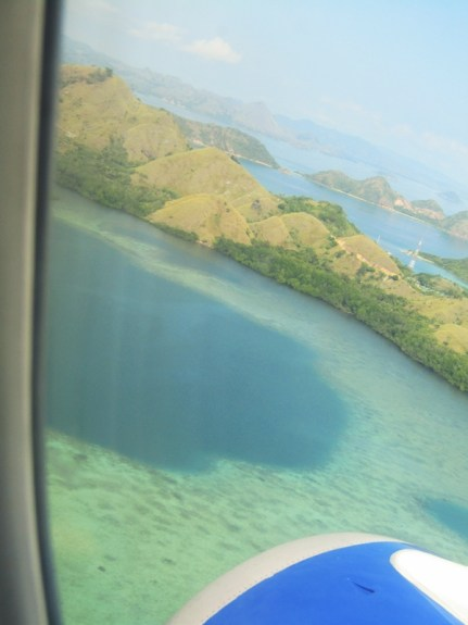 Komodo Island, from a couple thousand metres up, is perfection.