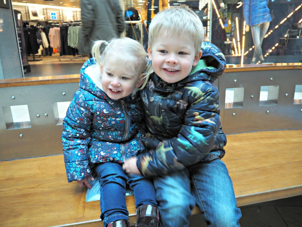 Basingstoke at Christmas Aria and Logan in Festival Place