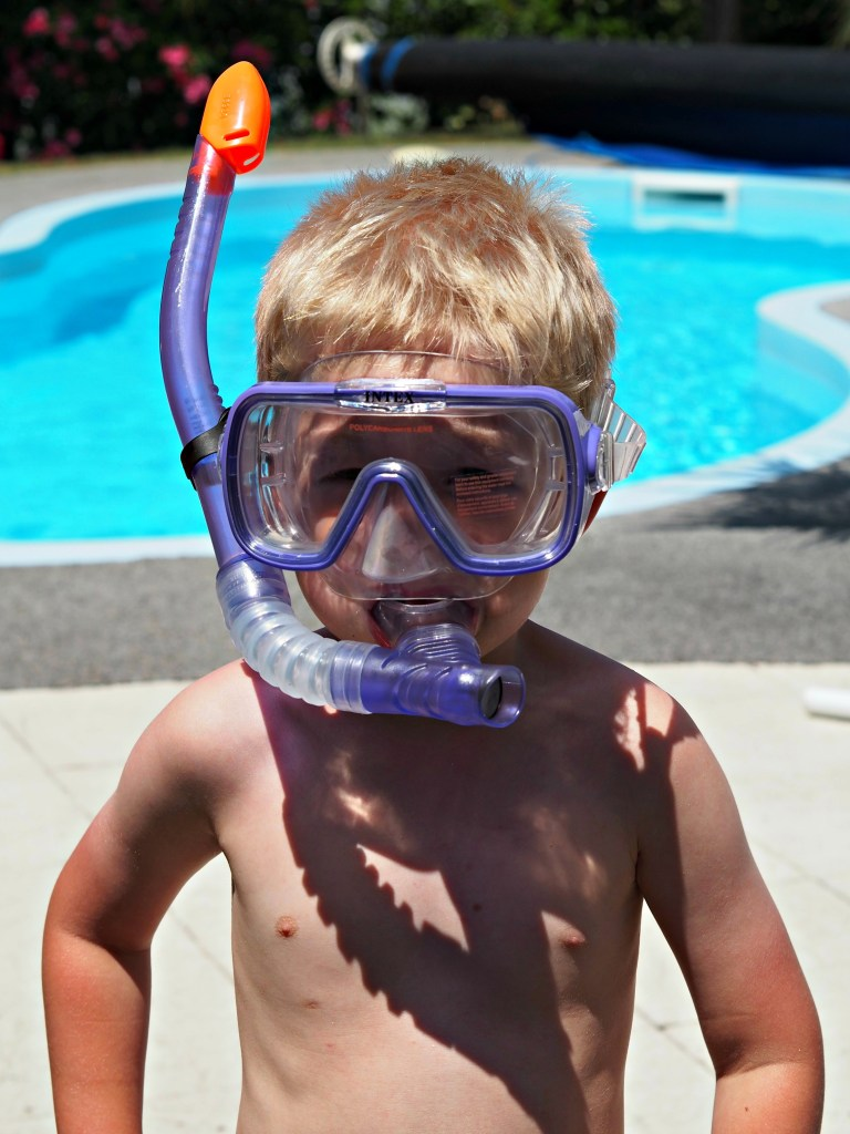 Our French Holiday Highlights - June 2017 -Logan snorkelling