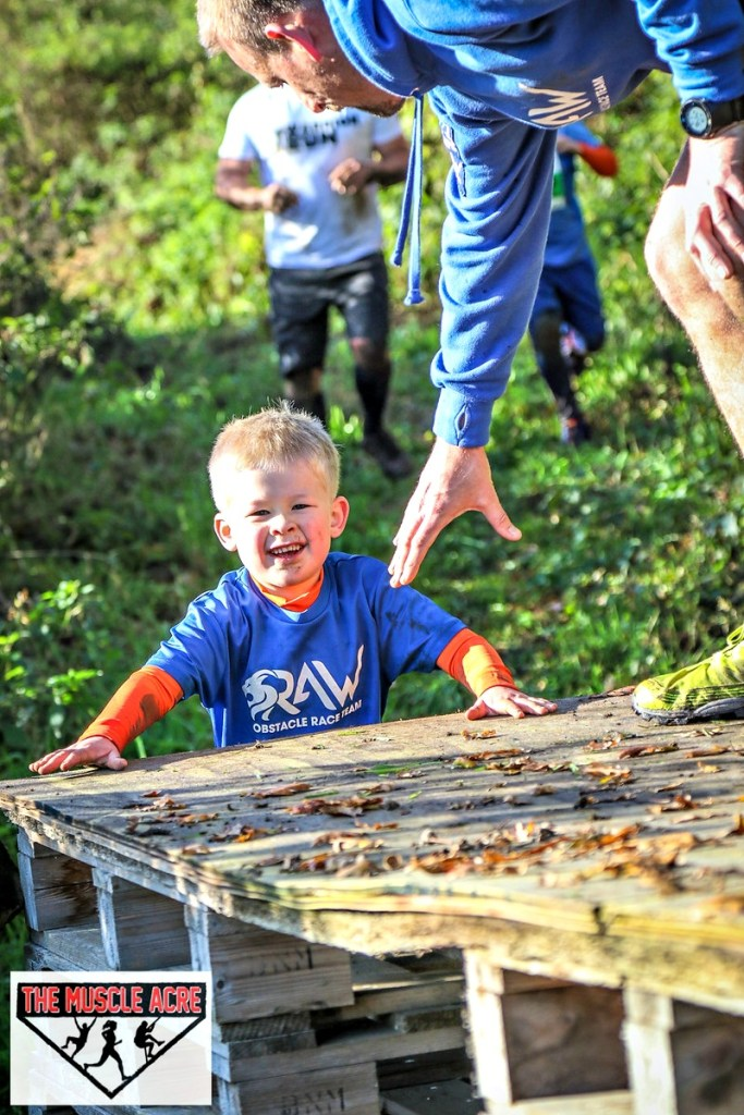 Muscle Acre Mud Slog November 2017 Review - Logan going over obstacles