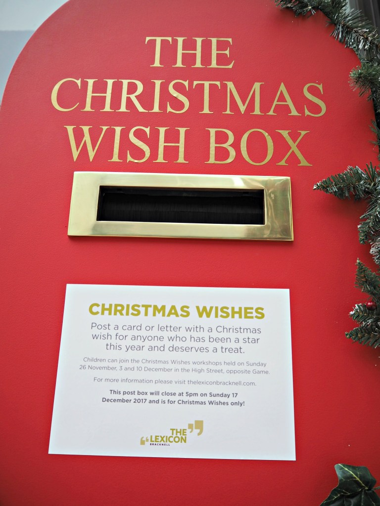 What's on at the Lexicon this Christmas in Bracknell - Lexicon Christmas Wishes Box
