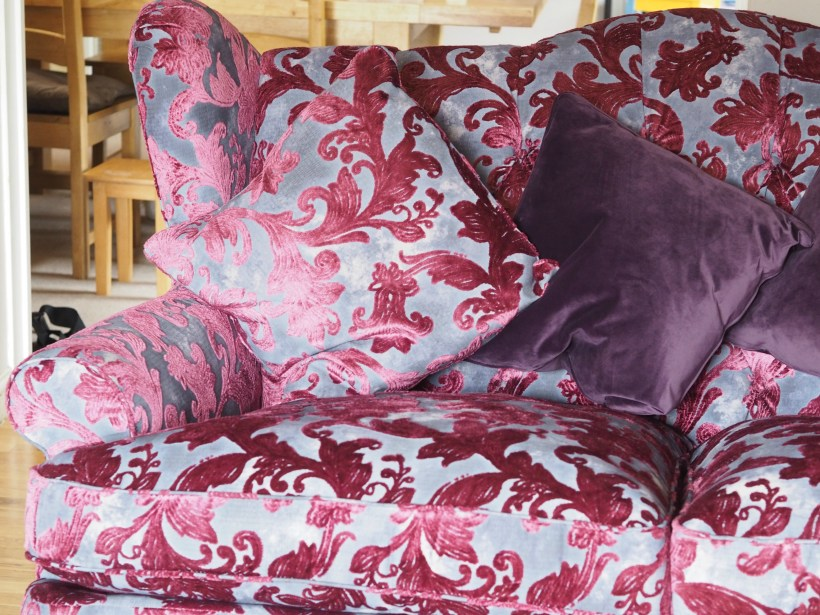 Our New Sofas & Front Room Mini Makeover with Sofology - pink sofa close up