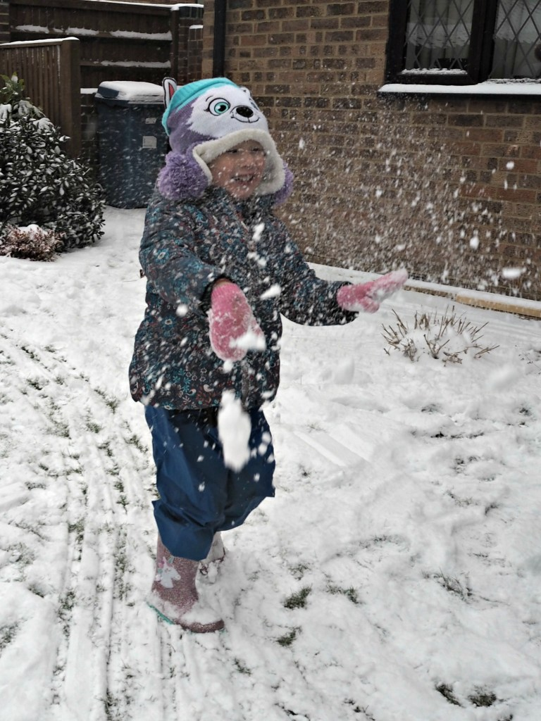 Aria playing in the snow