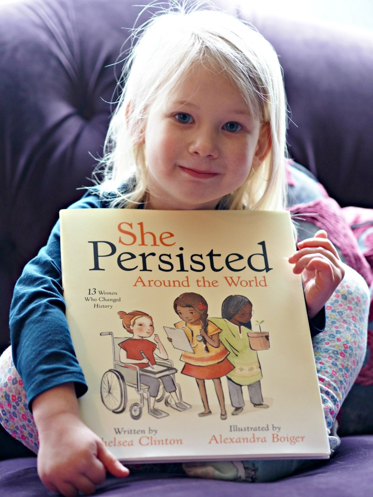 CHILDREN'S BOOK REVIEW She Persisted Around the World - Aria with book