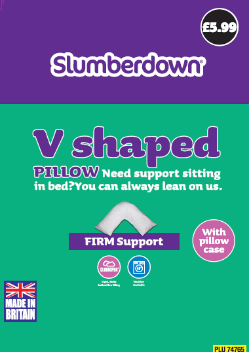 Slumberdown V-Shape Pillow (5.99)