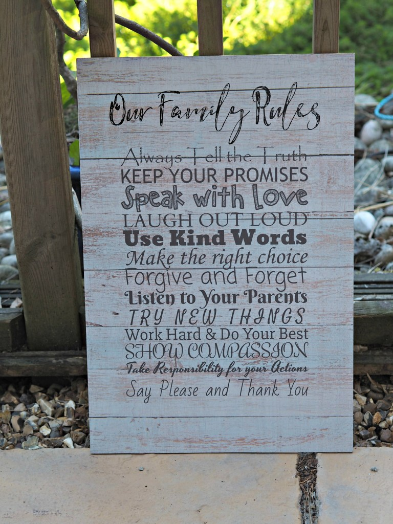 Made with Love and Sparkle Home Accessories Review - family rules lifestyle image