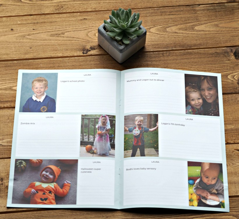 Keep in Touch with Grandparents with a Monthly Neveo Photo Journal - inside the journal