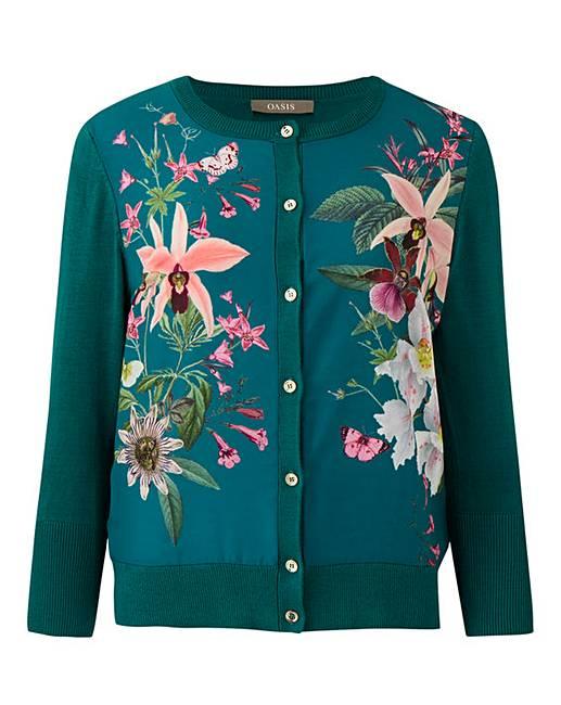 Oasis Secret Garden Woven Front Cardigan