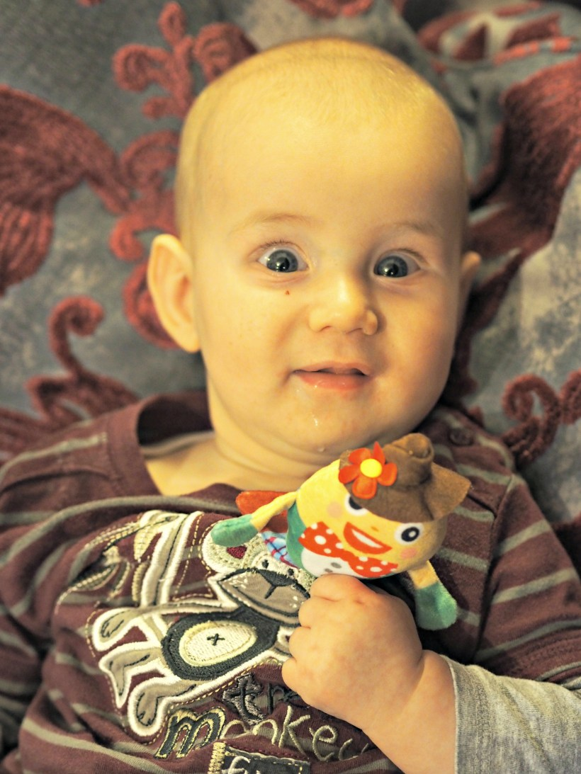 Yellodoor Baby First Aid Kit - Review and Giveaway - Bodhi with humpty dumpty