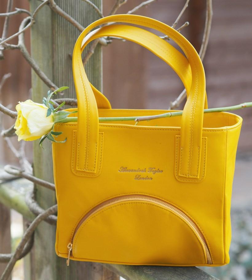AT of London Handbag Review - bag with rose