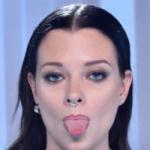 punta della lingua rossa