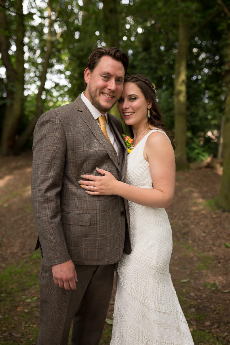 boho bride and groom sherwood forest wedding venue