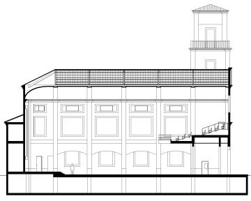 alzados-Sección longitudinal