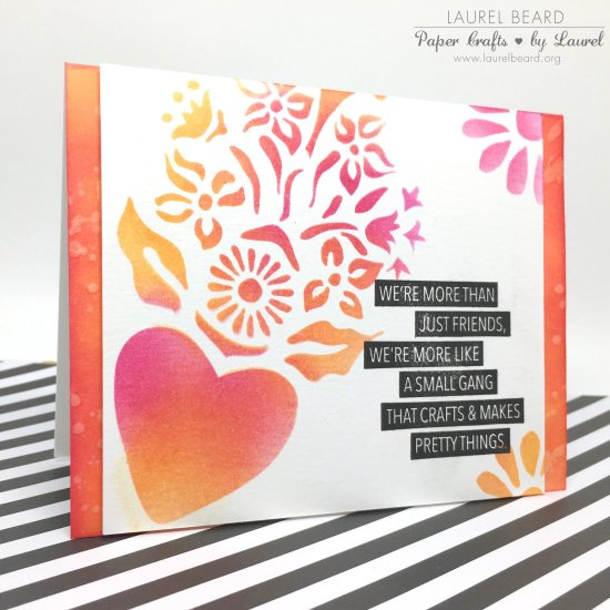 Stenciled Quick and Easy Card