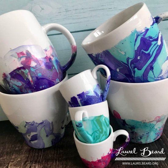 Video Diy Nail Polish Marble Mugs Simply Cardmaking