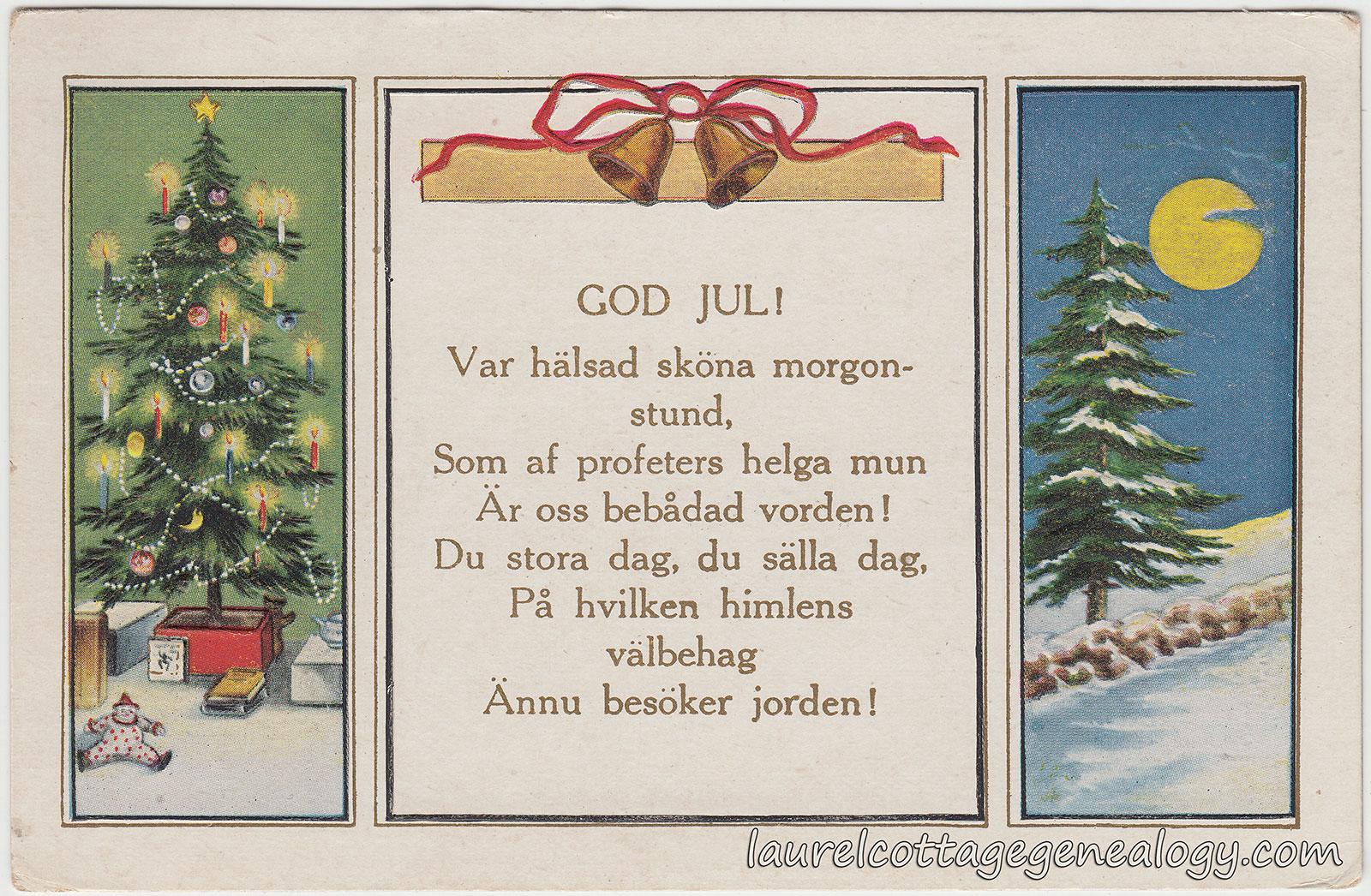 God Jul Laurel Cottage Genealogy