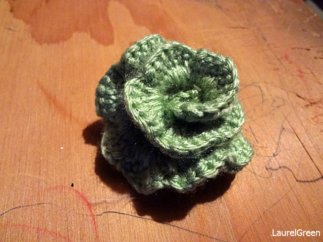 a photo of a crocheted rose