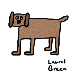 a cruddy looking dog drawing