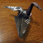 a photo of an origami crane