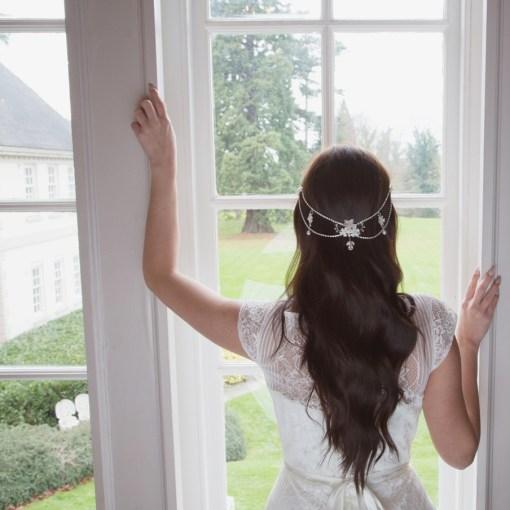 Periwinkle hair drape