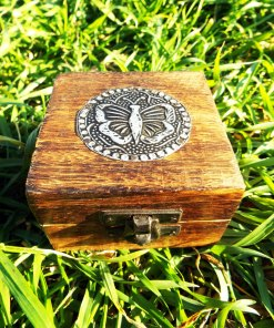 Box Wooden Butterfly Jewelry Handmade Home Decor Indian Mango Tree Wood Trinket Treasure Chest Eco Friendly