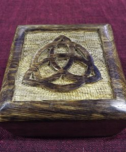 Box Wooden Chest Mango Tree Triquetra Celtic Jewelry Handmade Carved Treasure Chest Eco Friendly Home Decor Trinket 9