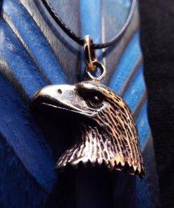 Eagle Pendant Bronze Handmade Necklace Bird Freedom Jewelry