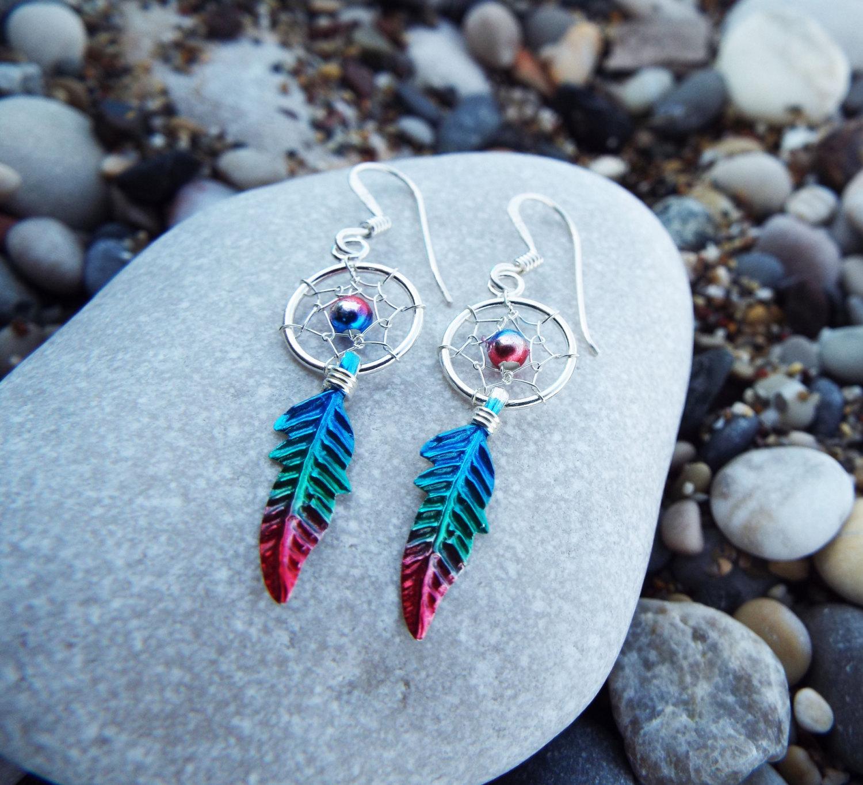 ce515d9737edd Sterling Silver Dreamcatcher Earrings