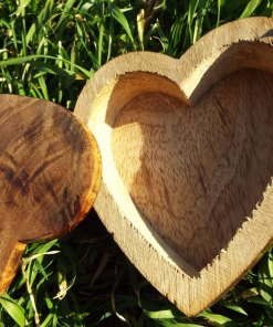 Heart Box Handmade Wooden Trinket Jewelry Chest Mango Tree Wood Eco Friendly Valentine