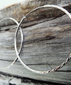 Hoop Earrings Silver Bali Balinese Sterling 925 Tribal Handmade Jewelry Classic Traditional κρικοι ασημι