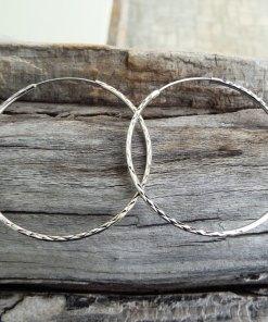 Hoop Earrings Silver Bali Balinese Sterling 925 Tribal Handmade Jewelry Classic Traditional κρικοι ασημι