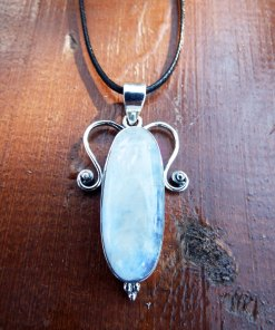 Moonstone Pendant Silver Handmade Gemstone Sterling 925 Necklace Boho Antique Vintage Gothic Dark