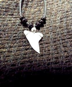 Shark Tooth Necklace Pendant Handmade Real Jewelry Sea Ocean Beach